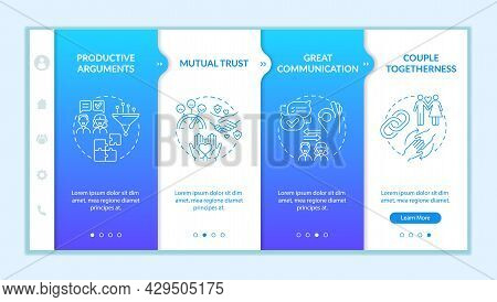 Mature Relationship Signs Onboarding Vector Template. Responsive Mobile Website With Icons. Web Page