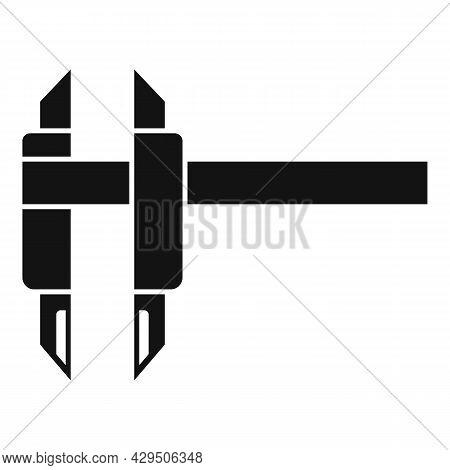Caliper Scale Icon Simple Vector. Calliper Vernier. Micrometer Tool