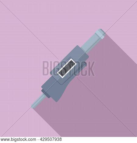 Accuracy Micrometer Icon Flat Vector. Precision Caliper. Design Vernier