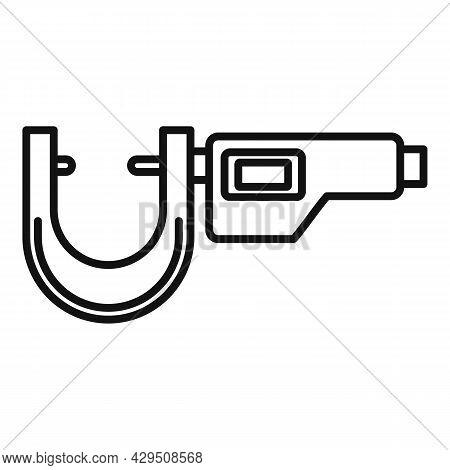 Micrometer Dimensions Icon Outline Vector. Precision Vernier. Caliper Instrument