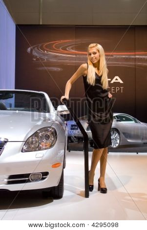 Blonde And  Car