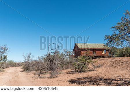 Beaufort West, South Africa - April 3, 2021: A Chalet At Steenbokkie Nature Reserve Near Beaufort We