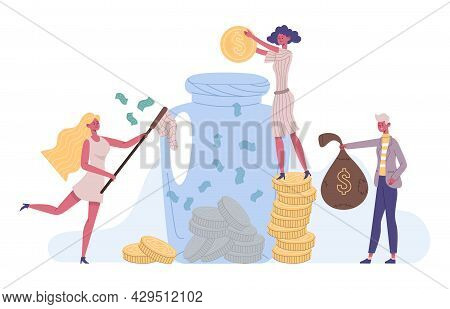 People Money Save, Success Financial Investment Concept. Investment, Increasing Capital Financial St