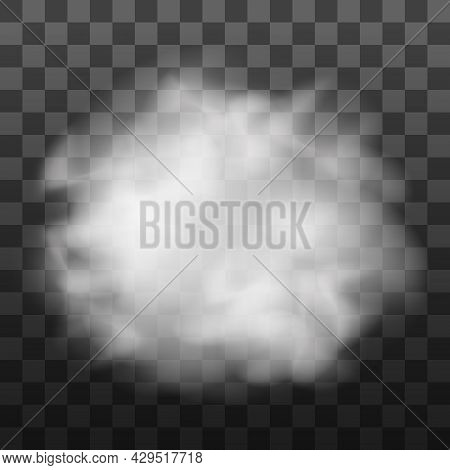 Fog Or Smoke Isolated Transparent Special Effect. White Vector Cloudiness, Mist Or Smog Background.