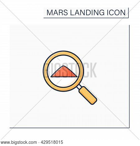 Examine Sample Color Icon. Sample From Mars. Detailed Researching And Development Template. Mars Lan