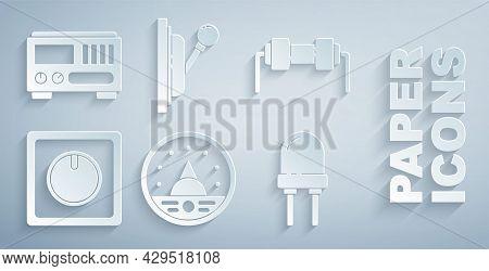Set Ampere Meter, Multimeter, Voltmeter, Resistor Electricity, Electric Light Switch, Light Emitting