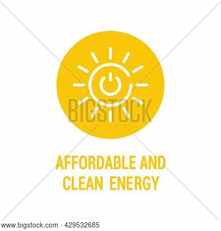 Affordable And Clean Energy Color Icon. Corporate Social Responsibility.