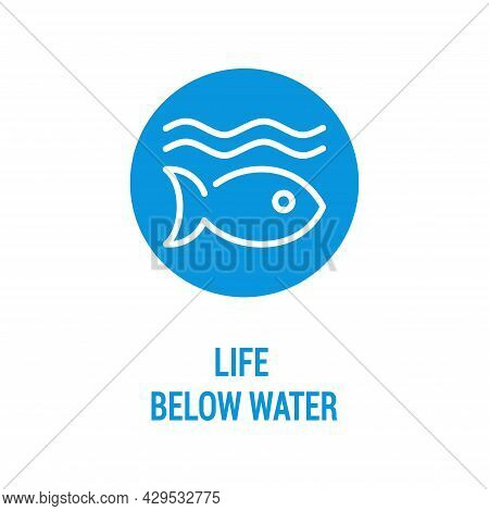 Life Below Water Color Icon. Corporate Social Responsibility.
