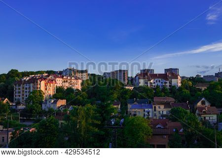 Apartment Living District Of City In Green Zone Outdoor Aerial Photography Foreshortening From Above