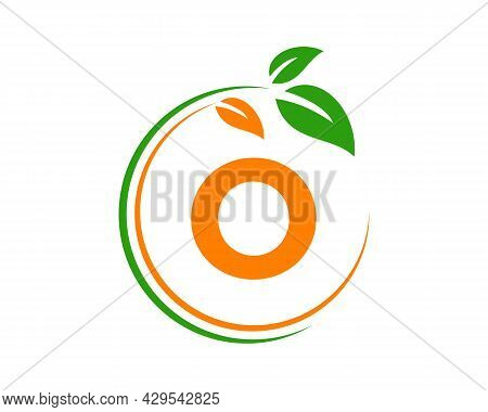 Eco Logo With O Letter Concept. O Letter Eco Healthy Natural Logo