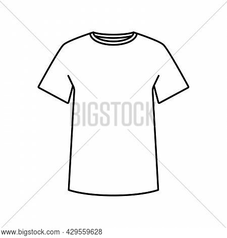 T-shirt Icon. Blank T-shirt Template. Black Silhouette Of A T-shirt. Vector Illustration. T-shirt Ve