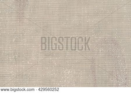 Texture Of Coarse Old Dirty Canvas With Spots, Vintage Background