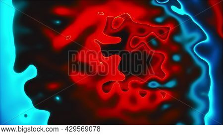 Vivid Curves Stripes 3d Render With Geometric Blur. Wavy Random Curvature With Gradient And Creative