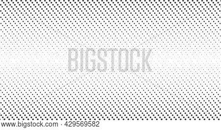 Halftone Dots. Monochrome Vector Texture Background. Pop Art Style Backdrop. Flat Vector Illustratio