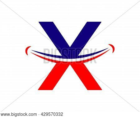 Smile Logo With X Letter Concept. Initial Letter X Happy Logo. Letter X Smile Logo Concept