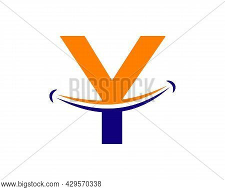 Smile Logo With Y Letter Concept. Initial Letter Y Happy Logo. Letter Y Smile Logo Concept
