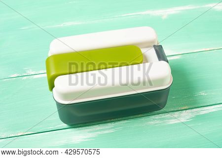 A Plastic Takeout Lunch Box Horizontal Composition