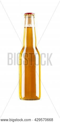 Bottle Of Fresh Beer On White With Clipping Path