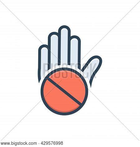 Color Illustration Icon For Objection Convulsions Exception Slander Exclusion Denigration Mudslingin