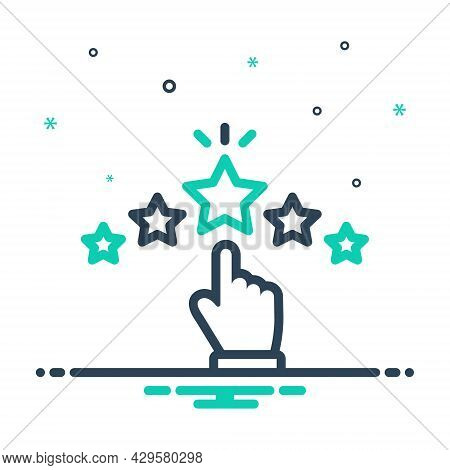 Mix Icon For Rating Grade Ranking Category Star Valuation Favorite Feedback Review Like Excellent Ch