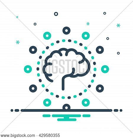 Mix Icon For Capability Skillfulness Intelligence Abilities Mind-power Potential User-capacity Think