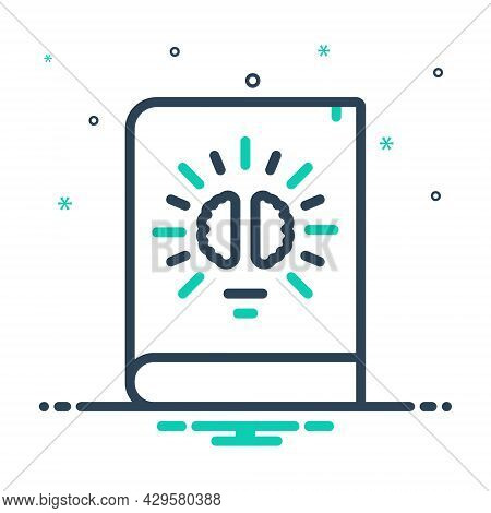 Mix Icon For Knowledge Intelligence Comprehension Understanding Knowing Education Book