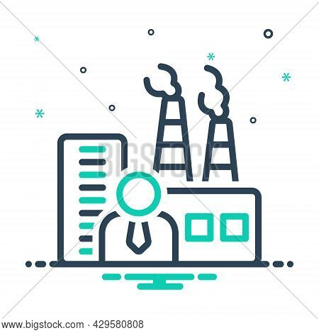 Mix Icon For Manufacturer Maker Producer Factory Industrialist Plant Chimney Smoke