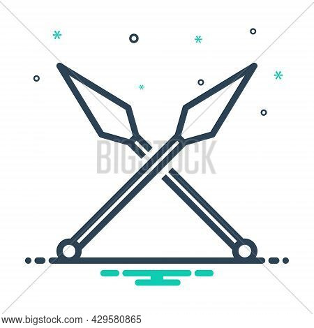Mix Icon For Weapon Weaponry War Sword Battle Fight Fighting Struggle Weapon Violence Archeology Evo
