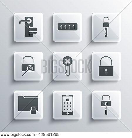 Set Mobile And Graphic Password, Lock Picks For Lock Picking, Wrong Key, Folder, Repair, Digital Doo