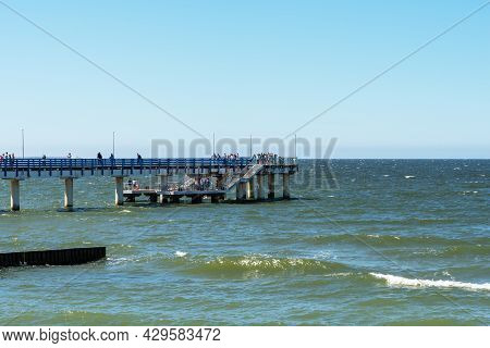 High Pier Over The Baltic Sea In The City Of Zelenogradsk.