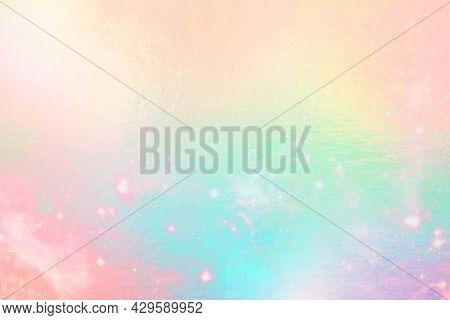 Rainbow sparking pastel concrete texture background