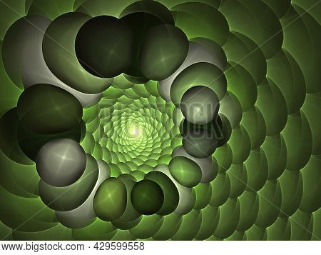 Fractal Background Abstract Spirals. Beautiful Generated Fractal. ?omputer-generated Image. Beautifu