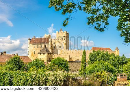 View At The Beynac-et-cazenac Castle Located In The Dordogne Department In Southwestern France.