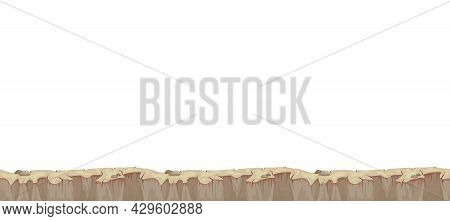 Cartoon Landscape Stony Relief For Game User Interface On White Background Vector Illustration