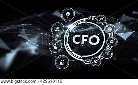 The Concept Of Business, Technology, The Internet And The Network.  Virtual Screen Of The Future And