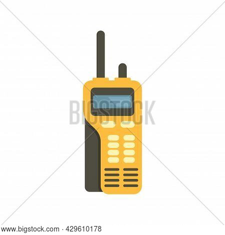 Walkie Talkie Call Icon. Flat Illustration Of Walkie Talkie Call Vector Icon Isolated On White Backg