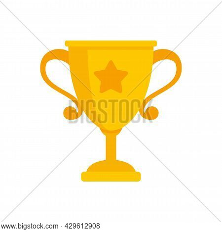 Gold Cup Reputation Icon. Flat Illustration Of Gold Cup Reputation Vector Icon Isolated On White Bac