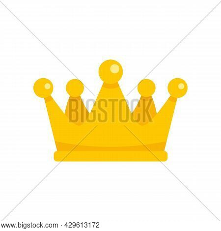 Gold Crown Reputation Icon. Flat Illustration Of Gold Crown Reputation Vector Icon Isolated On White