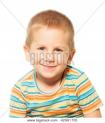 Smiling Four Years Old Boy