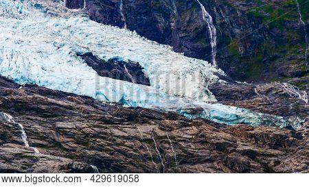 Boyabreen Glacier In Fjaerland Area In Sogndal Municipality In Sogn Og Fjordane County, Norway.
