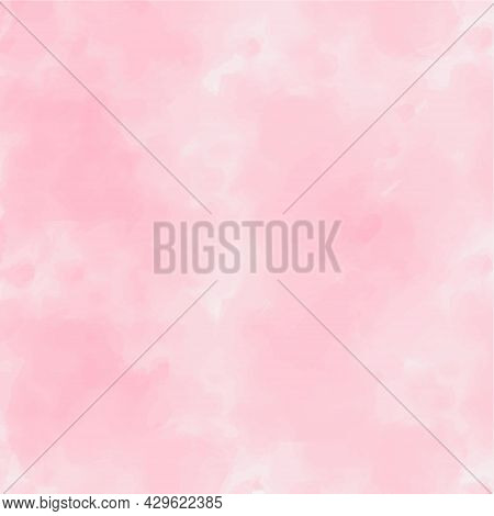 Abstract Vector Watercolor Paint Textured Background. Purple Sky Smoky Backdrop Design. Pastel Pink