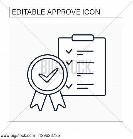 Approved Checklist Line Icon. Roster Of Pre-vetted Investments. Approved Legal Lists. Confirmed Conc