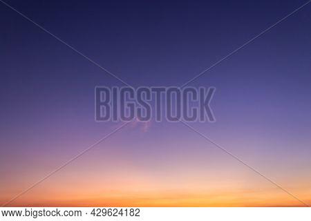 Sunset Sky On Twilight In The Evening
