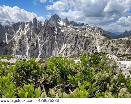 Unesco World Heritagelarge, Dolomites In Europe, Panorama Picture To The Gruppo Dei Cadini Torre Sio