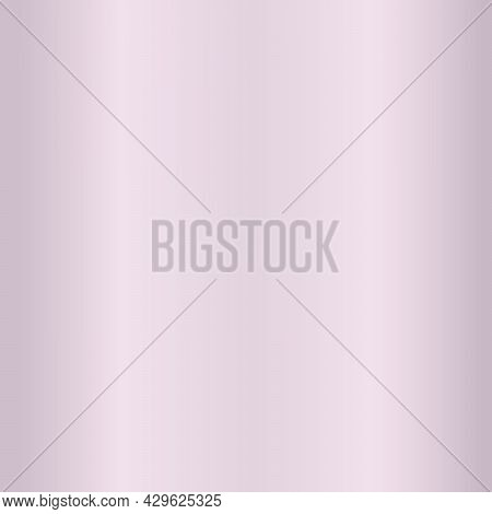 Metal Stainless Steel Texture. Seamless Polished Pink Metal Texture Background. Vector And Illustrat