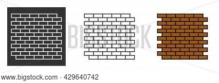 Wall Icon In Trendy Flat Style Isolated On Grey Background. Wall Brick Symbol For Your Web Site Desi