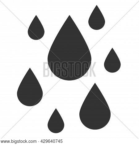 Water Drop Icon In Fill, Thin Line, Outline, And Stroke Style. Vector Illustration Of Black Water Dr
