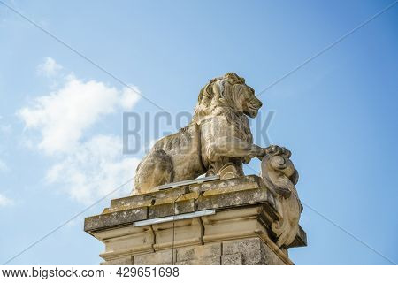 An image of a lion statue at Arles France