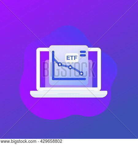 Etf Trading Or Exchange Traded Funds Icon