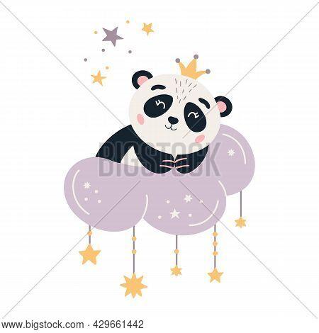 Cartoon Panda Vector Cute Sleeping Baby Bear